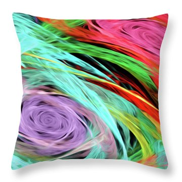 Throw Pillow featuring the digital art Andee Design Abstract 7 2015 by Andee Design