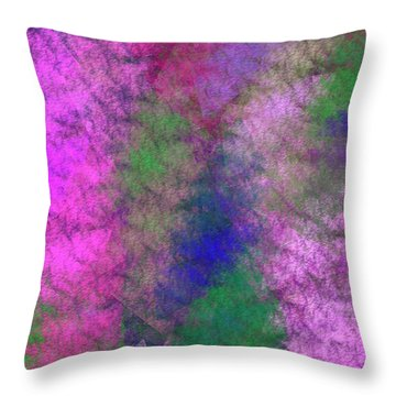 Throw Pillow featuring the digital art Andee Design Abstract 7 2018 by Andee Design