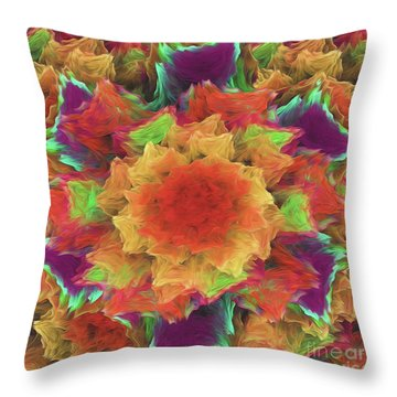Throw Pillow featuring the digital art Andee Design Abstract 70 2017 by Andee Design