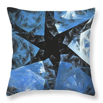 Throw Pillow featuring the digital art Andee Design Abstract 71 2017 by Andee Design