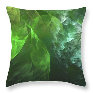 Throw Pillow featuring the digital art Andee Design Abstract 72 2017 by Andee Design