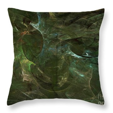 Throw Pillow featuring the digital art Andee Design Abstract 75 2017 by Andee Design