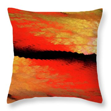Throw Pillow featuring the digital art Andee Design Abstract 77 2017 by Andee Design
