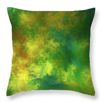 Throw Pillow featuring the digital art Andee Design Abstract 78 2017 by Andee Design