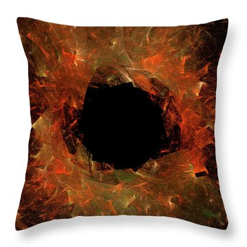 Throw Pillow featuring the digital art Andee Design Abstract 9 2018 by Andee Design