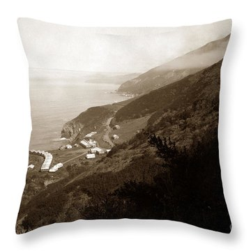 Anderson Creek Labor Camp Big Sur April 3 1931 Throw Pillow by California Views Mr Pat Hathaway Archives