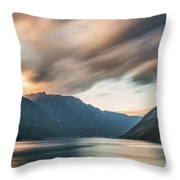 Throw Pillow featuring the photograph Anderson Lake Dreamscape by Pierre Leclerc Photography