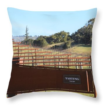Anderson Valley Vineyard Throw Pillow
