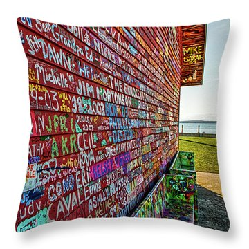 Anderson Warehouse Graffiti  Throw Pillow