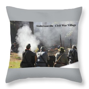 Andersonville Civil War Village Throw Pillow