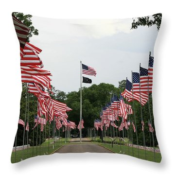 Andersonville National Cemetery Throw Pillow by Jerry Battle