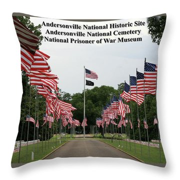 Andersonville National Park Throw Pillow by Jerry Battle