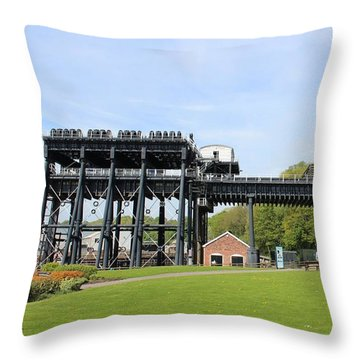 Anderton Boat Lift Throw Pillow