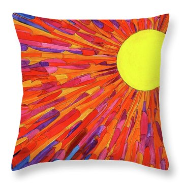 Andrea 43 Throw Pillow by Charles Cater