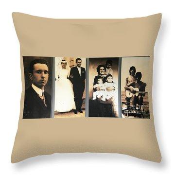 Andrea Bocelli Family Throw Pillow