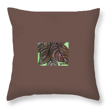 Andrea's Leaves - Fragments Of A  Dream Throw Pillow