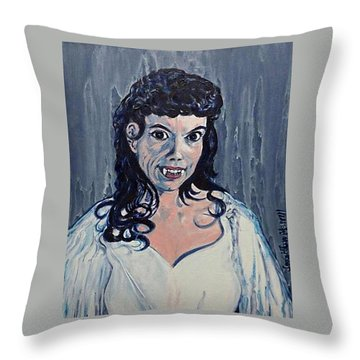 Andree Melly As Gina In The Brides Of Dracula  Throw Pillow