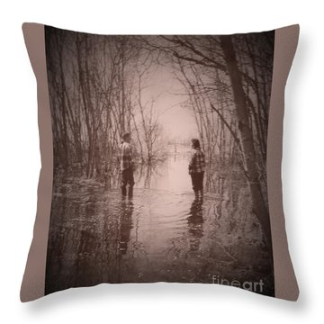 Andrew And Sarah Throw Pillow