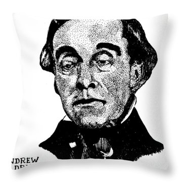 Andrew Drips Throw Pillow