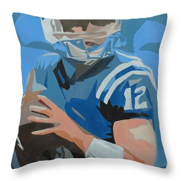 Andrew Luck II Throw Pillow