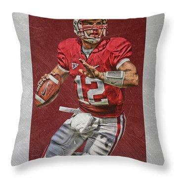 Andrew Luck Stanford Cardinals Art Throw Pillow