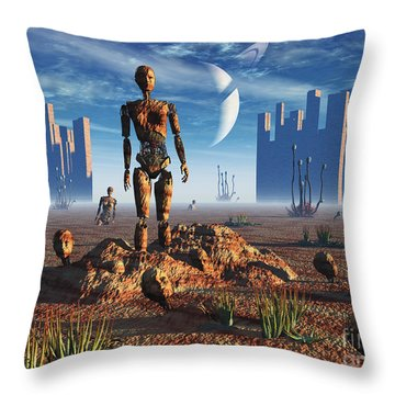 Android Fossils Preserved Throw Pillow by Mark Stevenson