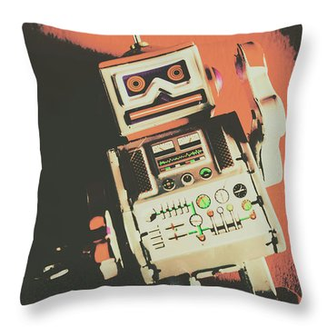Android Short Circuit  Throw Pillow