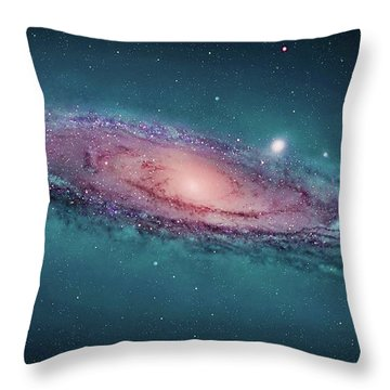 Andromeda Galaxy, Space Exploration, Astrophysics, Astronomy Throw Pillow