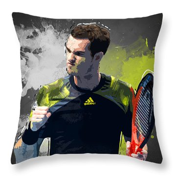 Andy Murray Throw Pillow