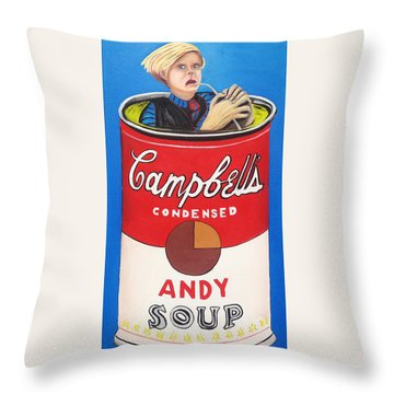 Andy Soup Throw Pillow