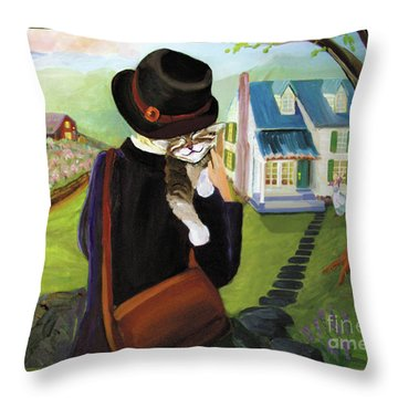 Andy's Home Throw Pillow