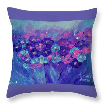 Throw Pillow featuring the painting Anemone by AmaS Art