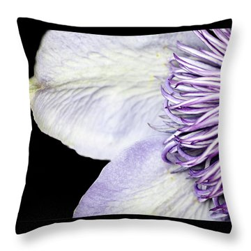 Throw Pillow featuring the photograph Anemone Center Edge by Rebecca Cozart