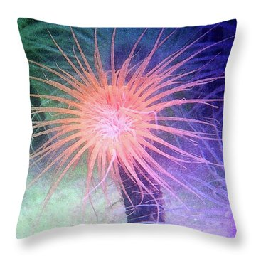 Throw Pillow featuring the photograph Anemone Color by Anthony Jones