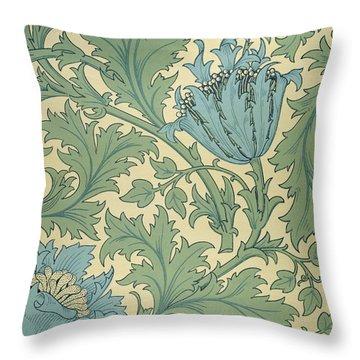Anemone Design Throw Pillow by William Morris