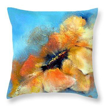 Throw Pillow featuring the mixed media Anemone by Dragica  Micki Fortuna