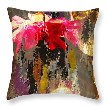 Anemone Monday Throw Pillow