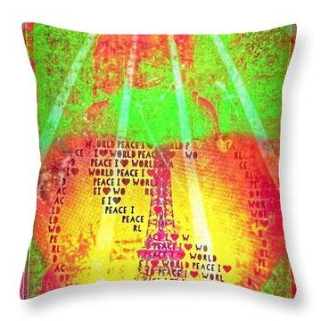 Ange De Paix Mondiale Throw Pillow