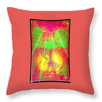 Ange De Paix Mondiale Throw Pillow