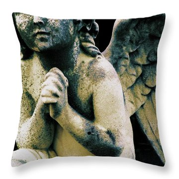 Throw Pillow featuring the digital art Angel 2 by Maria Huntley