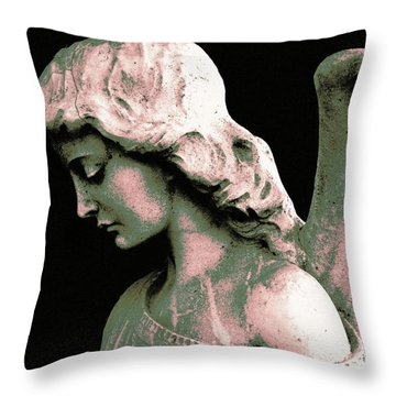 Angel 4 Throw Pillow by Maria Huntley