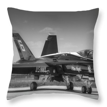 Angel 6 In Black And White Throw Pillow