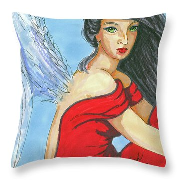 Angel Among Us Throw Pillow