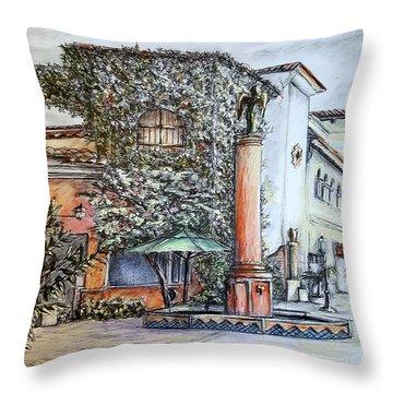 Angel At Santa Barbara Throw Pillow