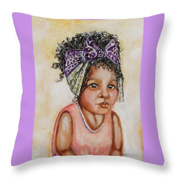 Angel Baby, The Painting Throw Pillow