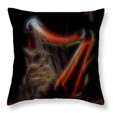 Angel Cat Throw Pillow by William Horden