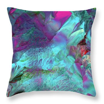 Angel Daphne Flowers #2 Throw Pillow