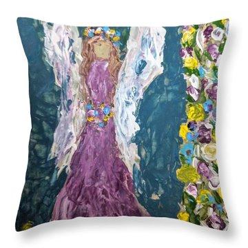 Angel Diva Throw Pillow