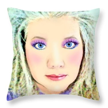 Throw Pillow featuring the photograph Angel Eyes by Barbara Tristan