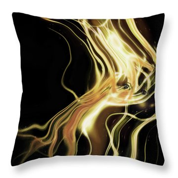 Throw Pillow featuring the photograph Angel Eyes by Pennie  McCracken